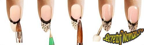 Класс френч на ногтях