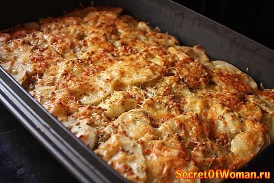 Запеканка с мясом и с картошкой в духовке