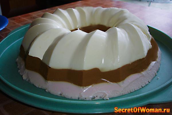 Сметанный торт с желе фото